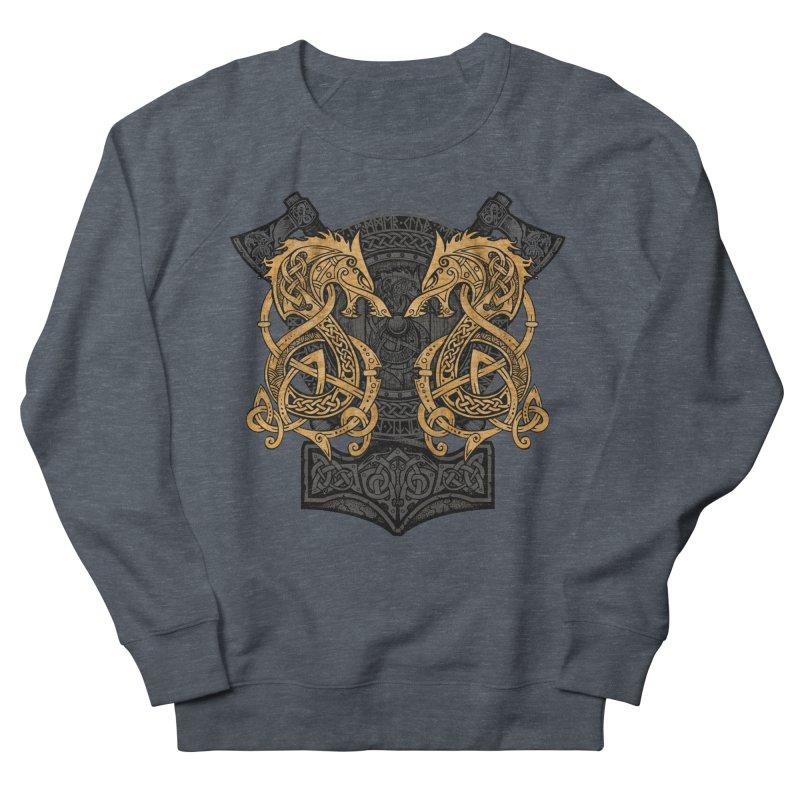 Fighting Fenrir Gold Men's Sweatshirt by Celtic Hammer Club