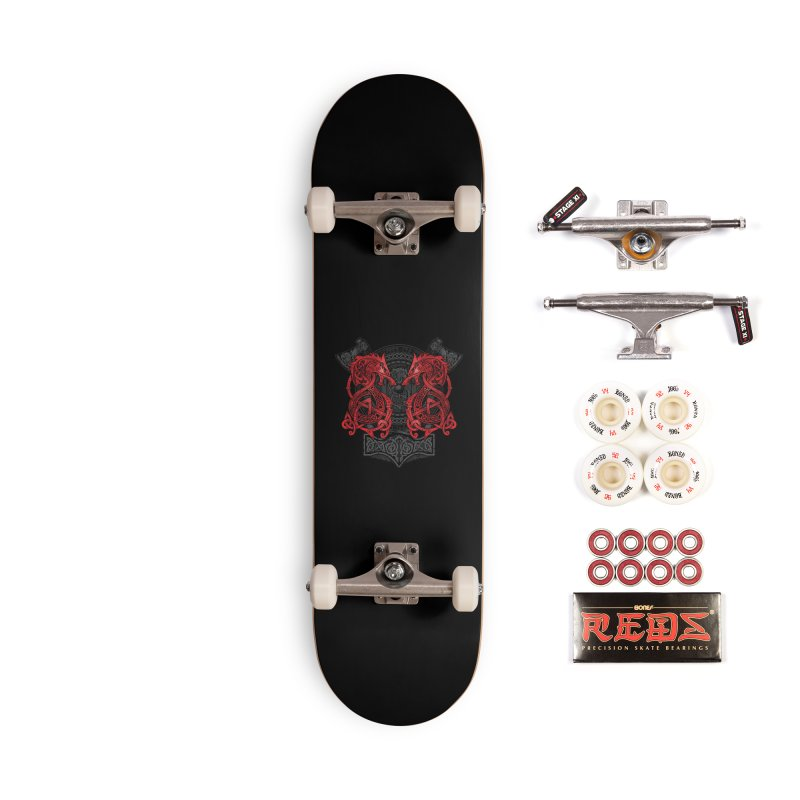 Fighting Fenrir Red Accessories Complete - Pro Skateboard by Celtic Hammer Club