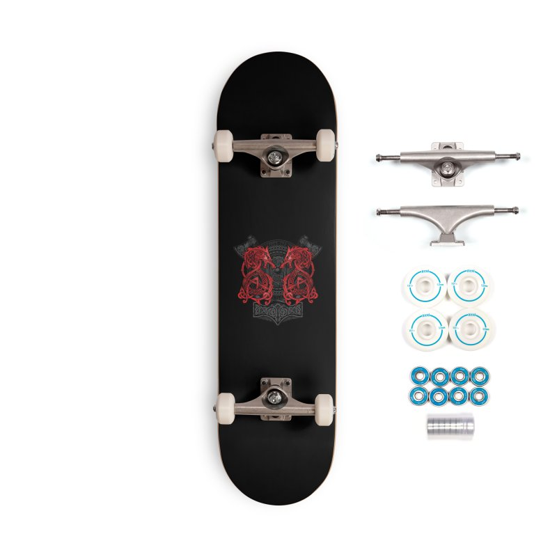 Fighting Fenrir Red Accessories Complete - Basic Skateboard by Celtic Hammer Club
