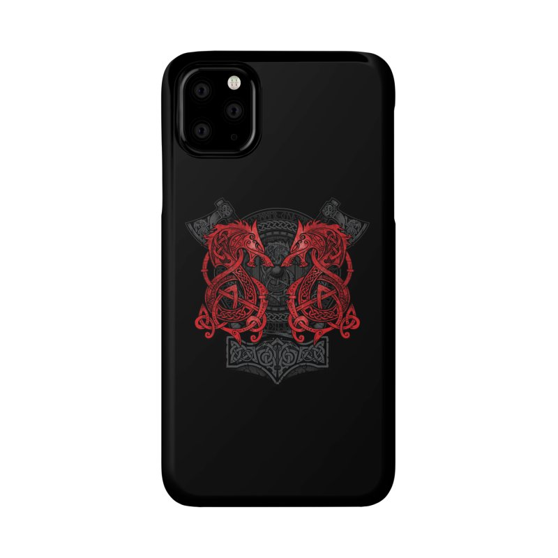 Fighting Fenrir Red Accessories Phone Case by Celtic Hammer Club