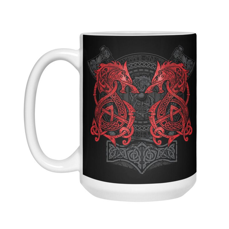 Fighting Fenrir Red Accessories Mug by Celtic Hammer Club