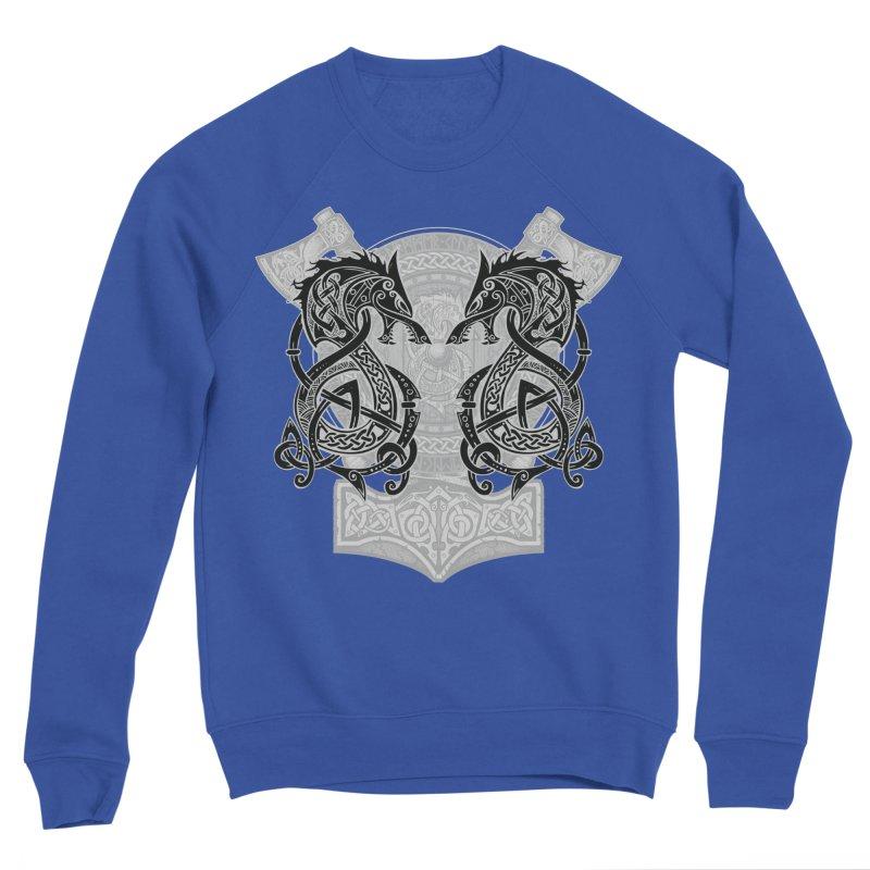 Fighting Fenrir Black Women's Sponge Fleece Sweatshirt by Celtic Hammer Club