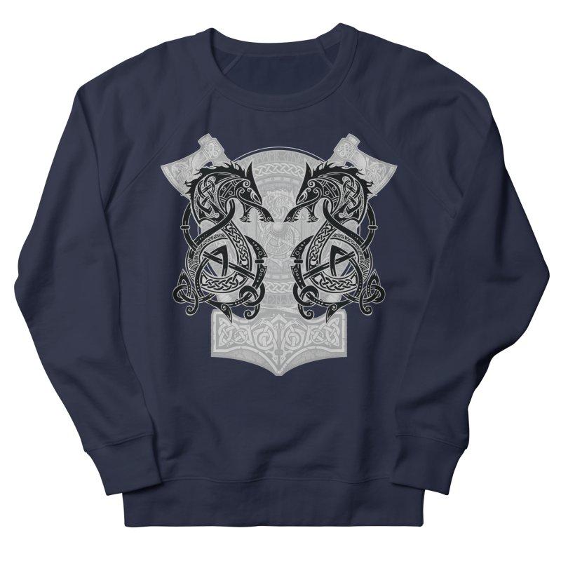 Fighting Fenrir Black Women's French Terry Sweatshirt by Celtic Hammer Club