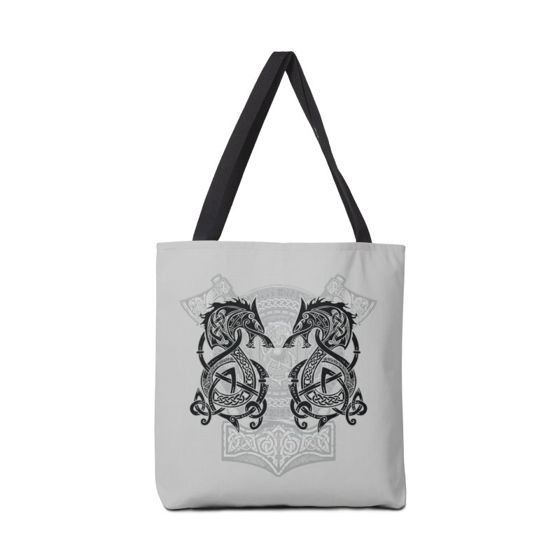 Fighting Fenrir Black Accessories Tote Bag Bag by Celtic Hammer Club