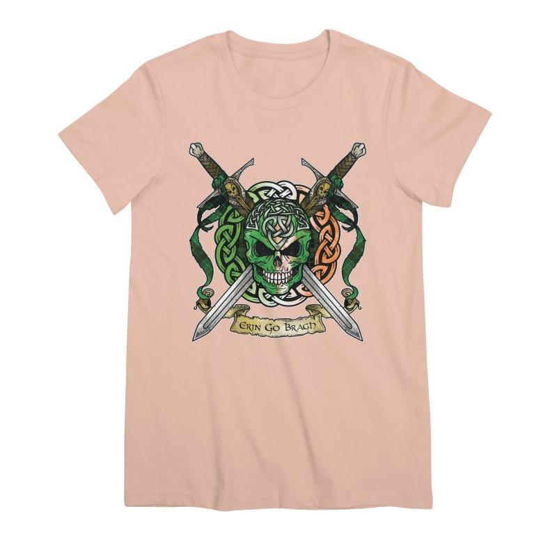 Celtic Warrior: Ireland Women's Premium T-Shirt by Celtic Hammer Club