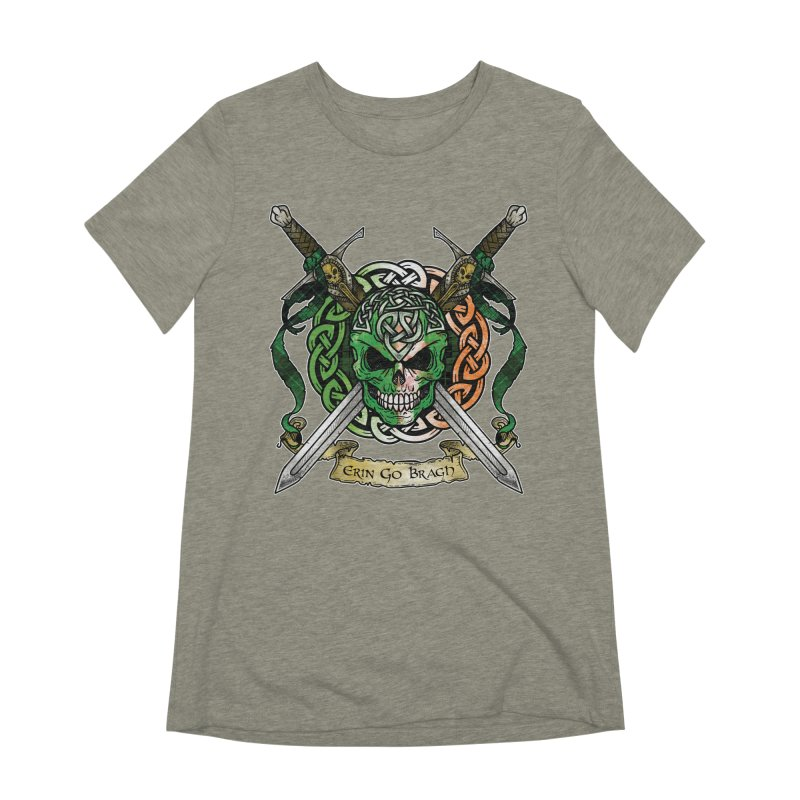 Celtic Warrior: Ireland Women's Extra Soft T-Shirt by Celtic Hammer Club