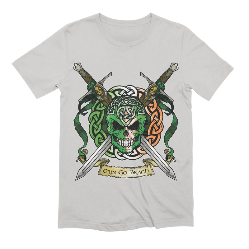 Celtic Warrior: Ireland Men's Extra Soft T-Shirt by Celtic Hammer Club