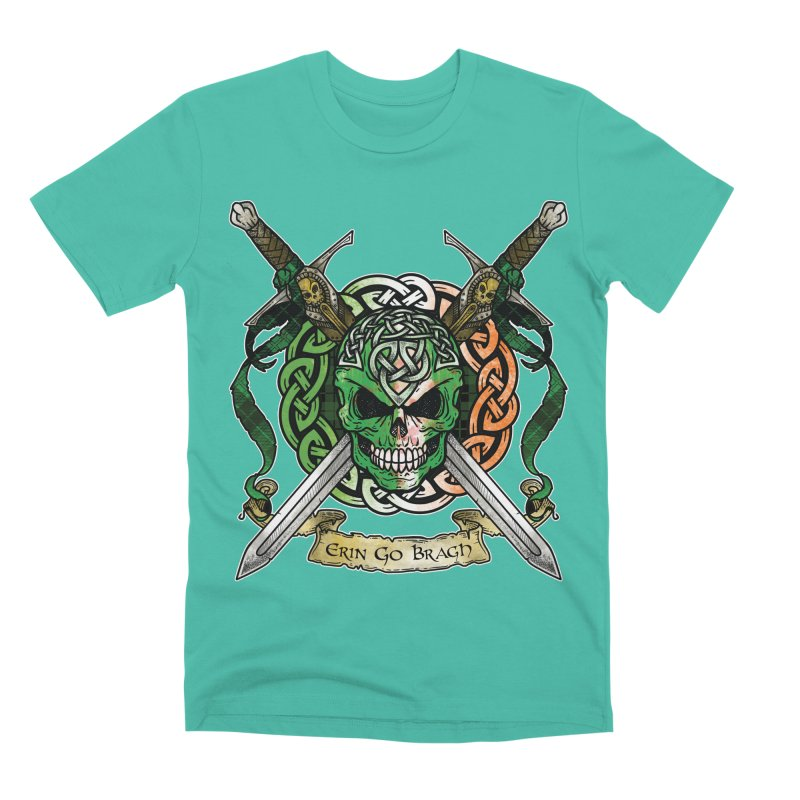 Celtic Warrior: Ireland Men's Premium T-Shirt by Celtic Hammer Club