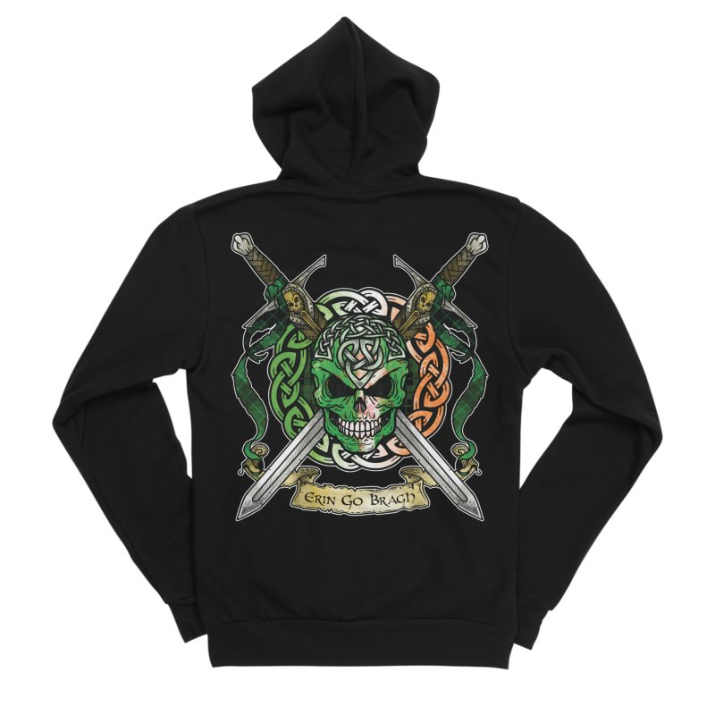 Celtic Warrior: Ireland Men's Sponge Fleece Zip-Up Hoody by Celtic Hammer Club
