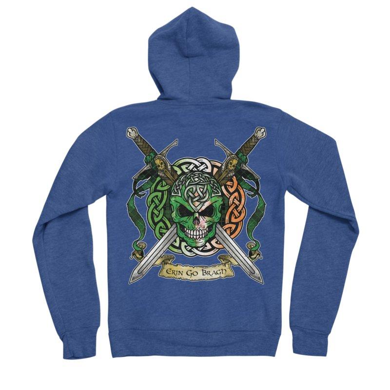Celtic Warrior: Ireland Men's Sponge Fleece Zip-Up Hoody by Celtic Hammer Club