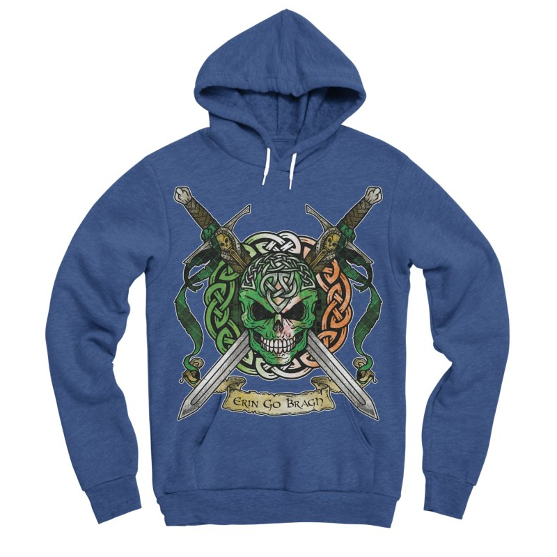 Celtic Warrior: Ireland Women's Sponge Fleece Pullover Hoody by Celtic Hammer Club