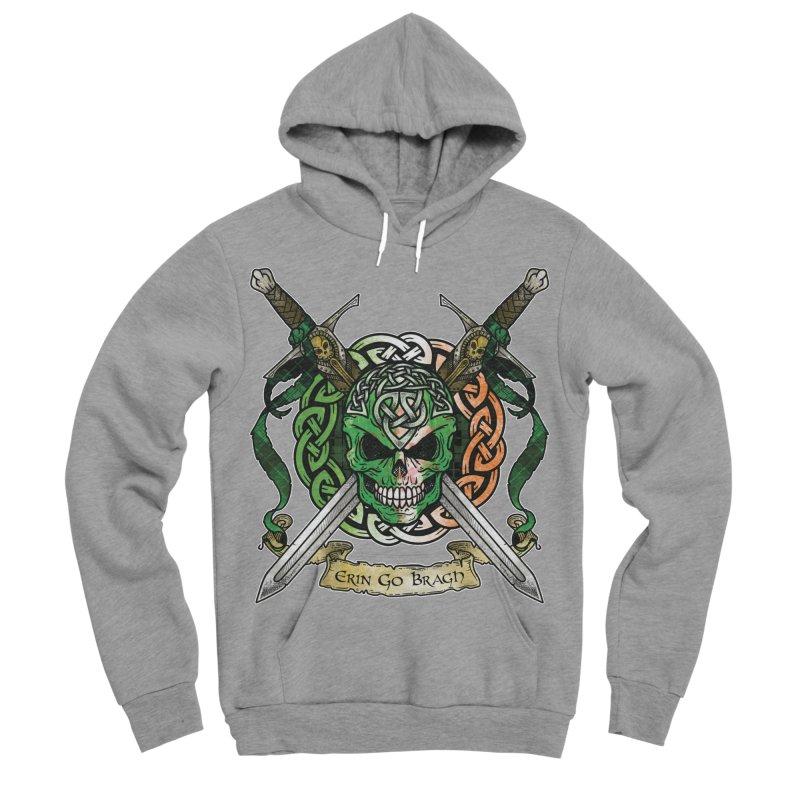 Celtic Warrior: Ireland Men's Sponge Fleece Pullover Hoody by Celtic Hammer Club