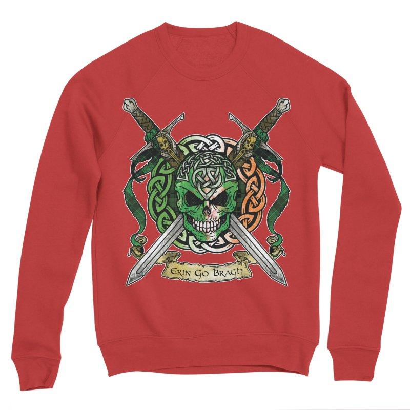 Celtic Warrior: Ireland Men's Sponge Fleece Sweatshirt by Celtic Hammer Club