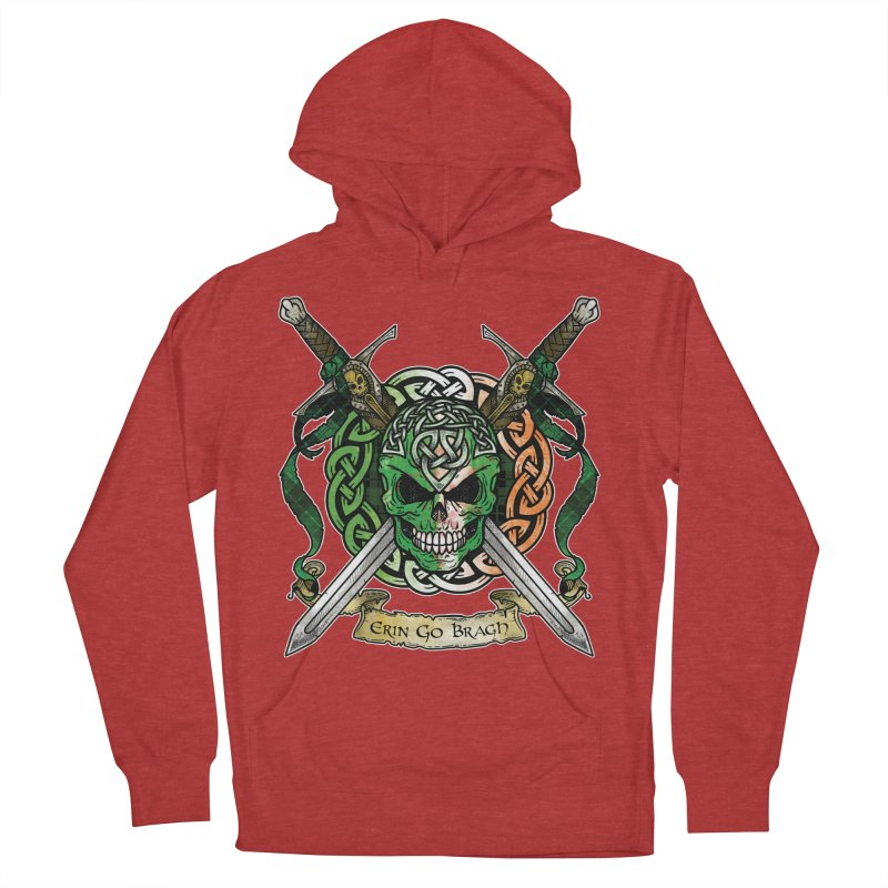 Celtic Warrior: Ireland Men's French Terry Pullover Hoody by Celtic Hammer Club