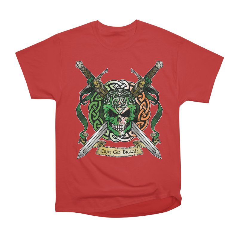 Celtic Warrior: Ireland Women's Heavyweight Unisex T-Shirt by Celtic Hammer Club