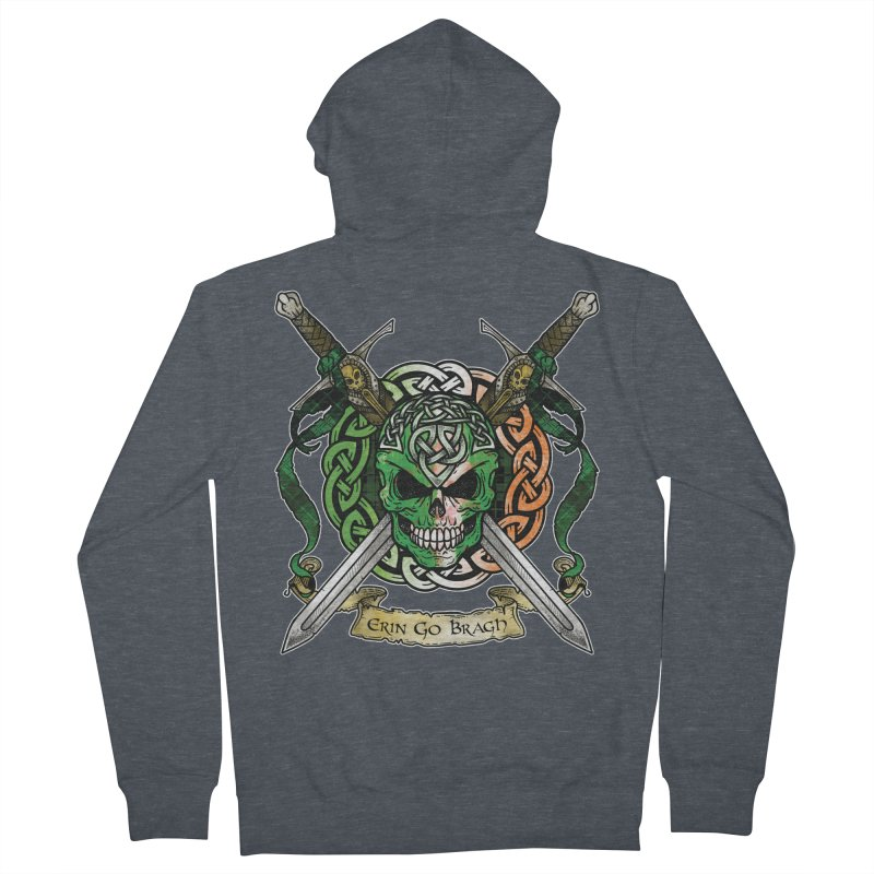 Celtic Warrior: Ireland Women's French Terry Zip-Up Hoody by Celtic Hammer Club