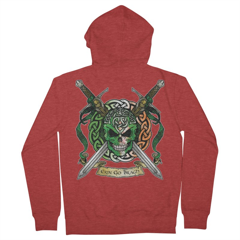 Celtic Warrior: Ireland Men's French Terry Zip-Up Hoody by Celtic Hammer Club