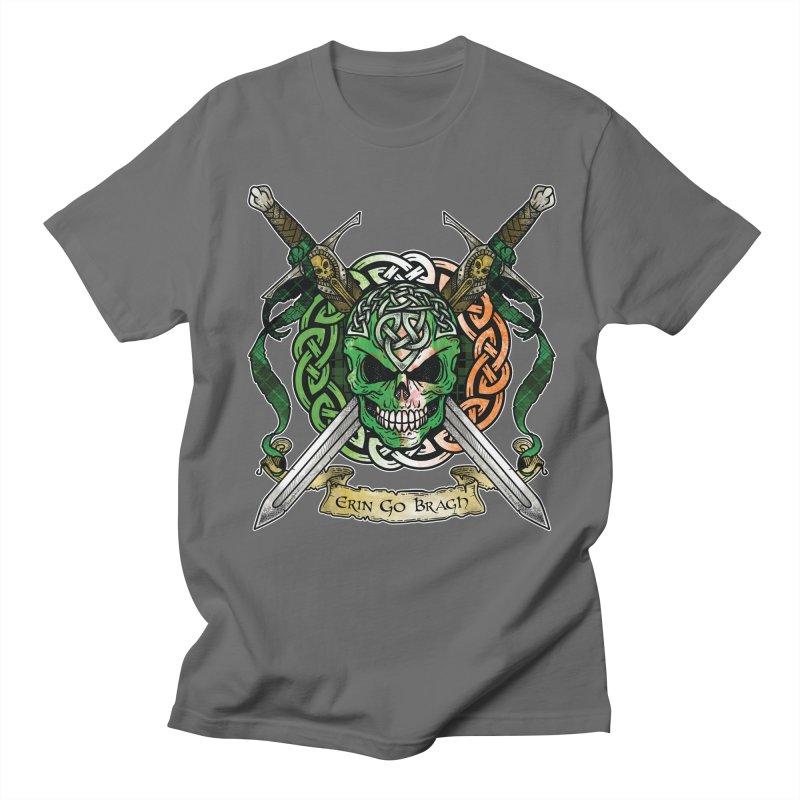 Celtic Warrior: Ireland Men's Regular T-Shirt by Celtic Hammer Club