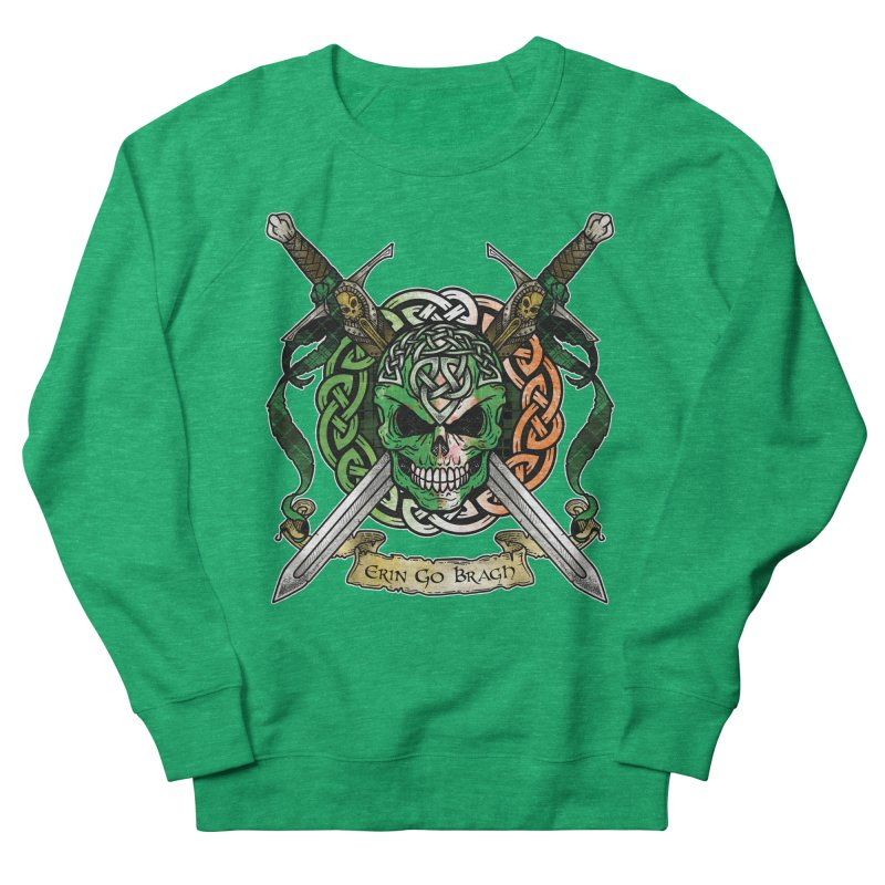 Celtic Warrior: Ireland Women's French Terry Sweatshirt by Celtic Hammer Club