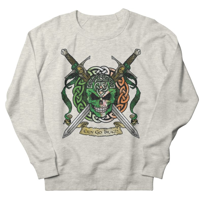 Celtic Warrior: Ireland Men's French Terry Sweatshirt by Celtic Hammer Club