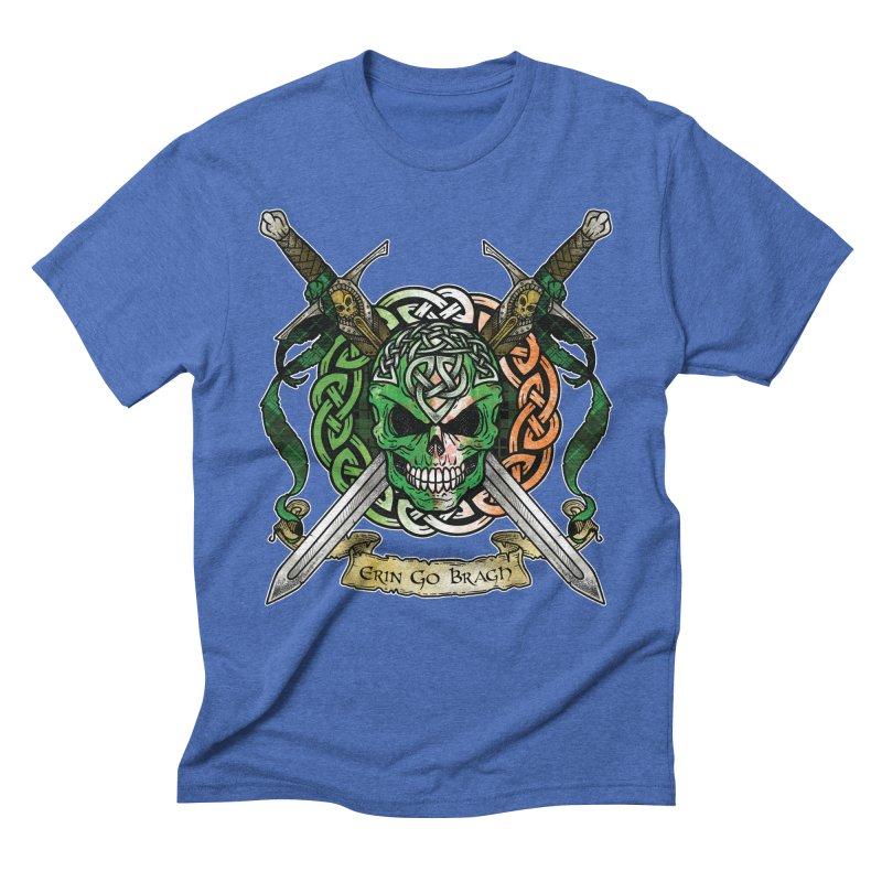 Celtic Warrior: Ireland Men's Triblend T-Shirt by Celtic Hammer Club