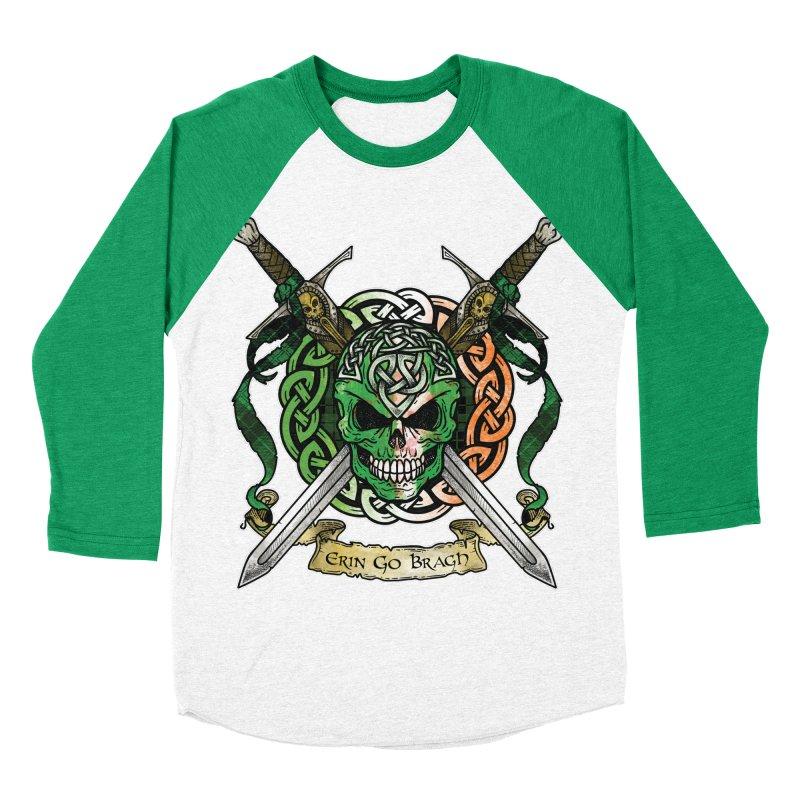 Celtic Warrior: Ireland Women's Baseball Triblend Longsleeve T-Shirt by Celtic Hammer Club
