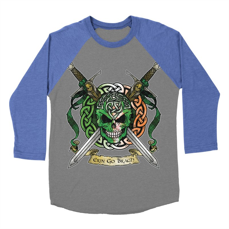 Celtic Warrior: Ireland Men's Baseball Triblend Longsleeve T-Shirt by Celtic Hammer Club