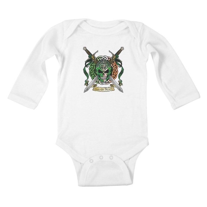 Celtic Warrior: Ireland Kids Baby Longsleeve Bodysuit by Celtic Hammer Club