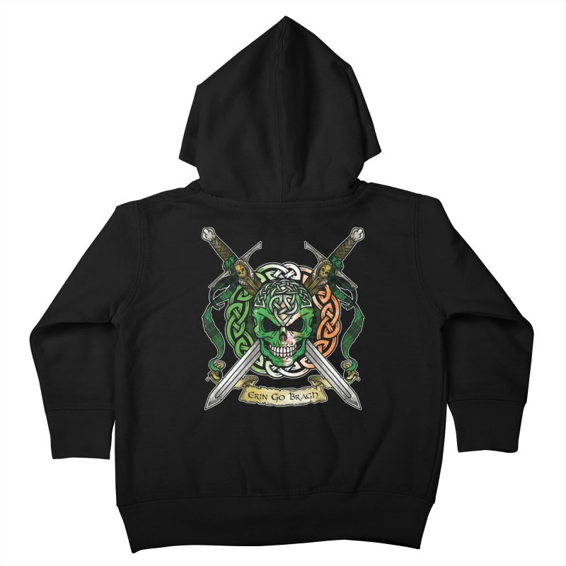 Celtic Warrior: Ireland Kids Toddler Zip-Up Hoody by Celtic Hammer Club
