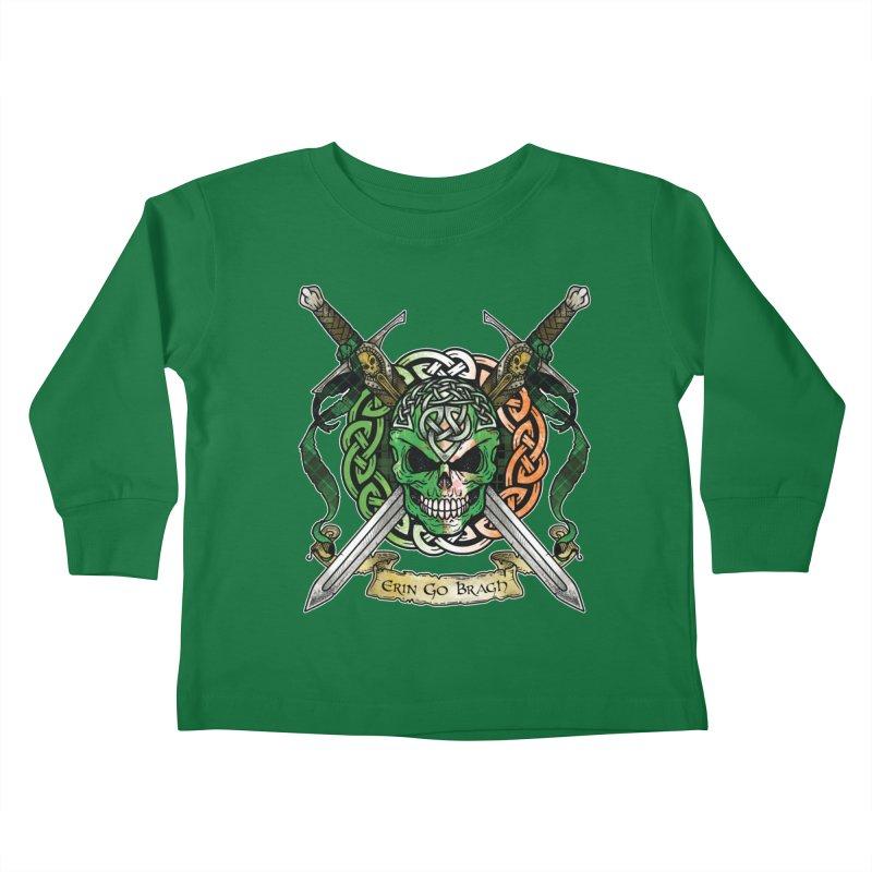 Celtic Warrior: Ireland Kids Toddler Longsleeve T-Shirt by Celtic Hammer Club