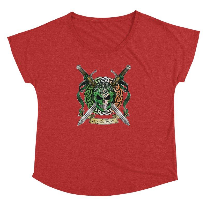 Celtic Warrior: Ireland Women's Dolman Scoop Neck by Celtic Hammer Club