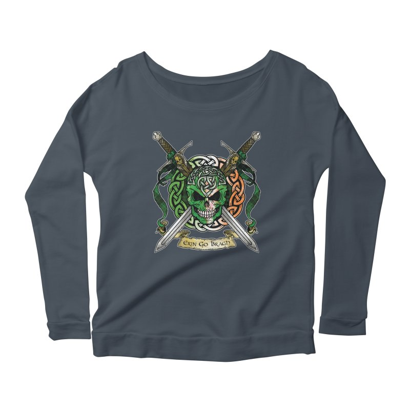 Celtic Warrior: Ireland Women's Scoop Neck Longsleeve T-Shirt by Celtic Hammer Club