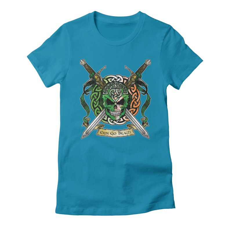 Celtic Warrior: Ireland Women's Fitted T-Shirt by Celtic Hammer Club