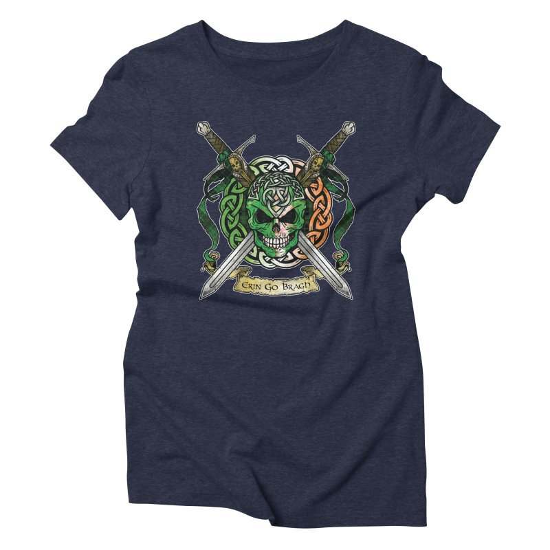 Celtic Warrior: Ireland Women's Triblend T-Shirt by Celtic Hammer Club