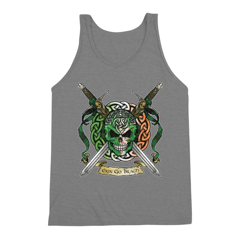 Celtic Warrior: Ireland Men's Triblend Tank by Celtic Hammer Club