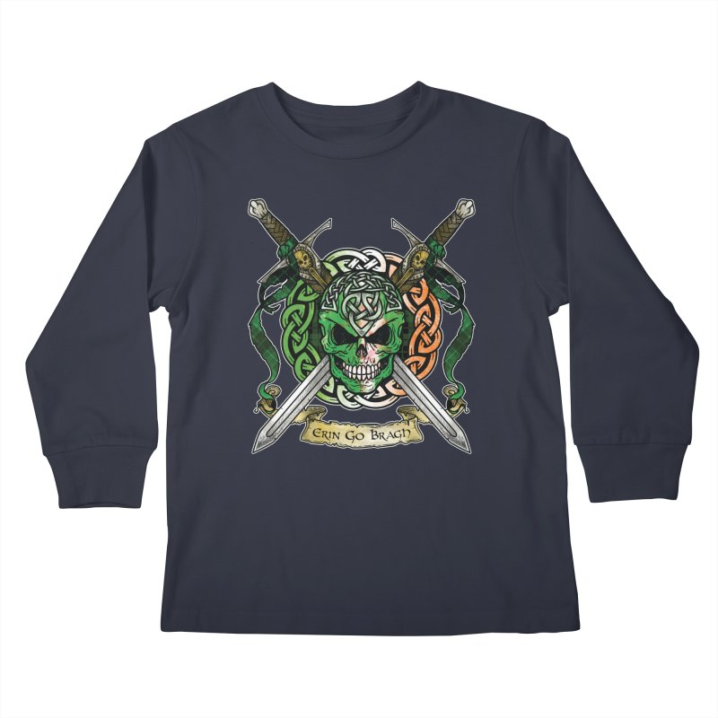 Celtic Warrior: Ireland Kids Longsleeve T-Shirt by Celtic Hammer Club