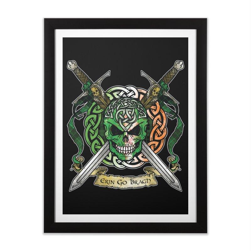 Celtic Warrior: Ireland Home Framed Fine Art Print by Celtic Hammer Club
