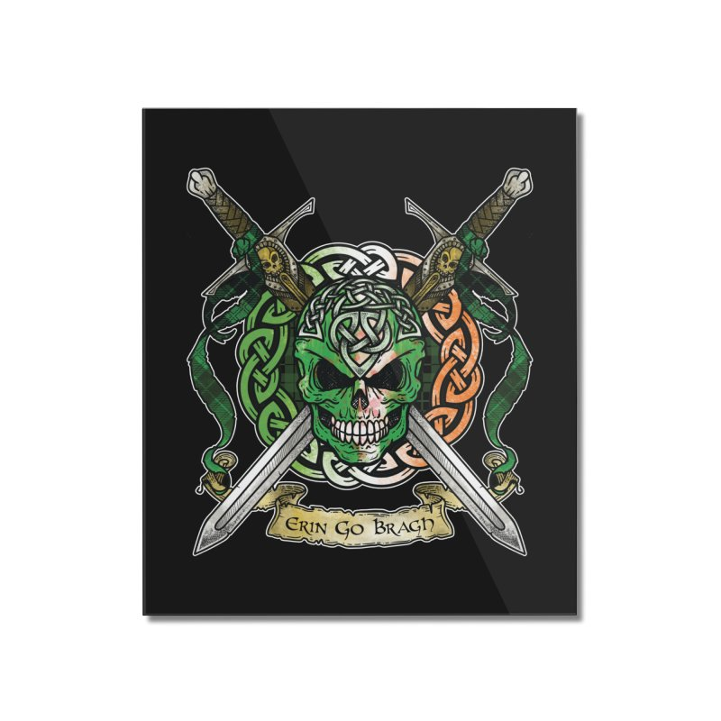 Celtic Warrior: Ireland Home Mounted Acrylic Print by Celtic Hammer Club