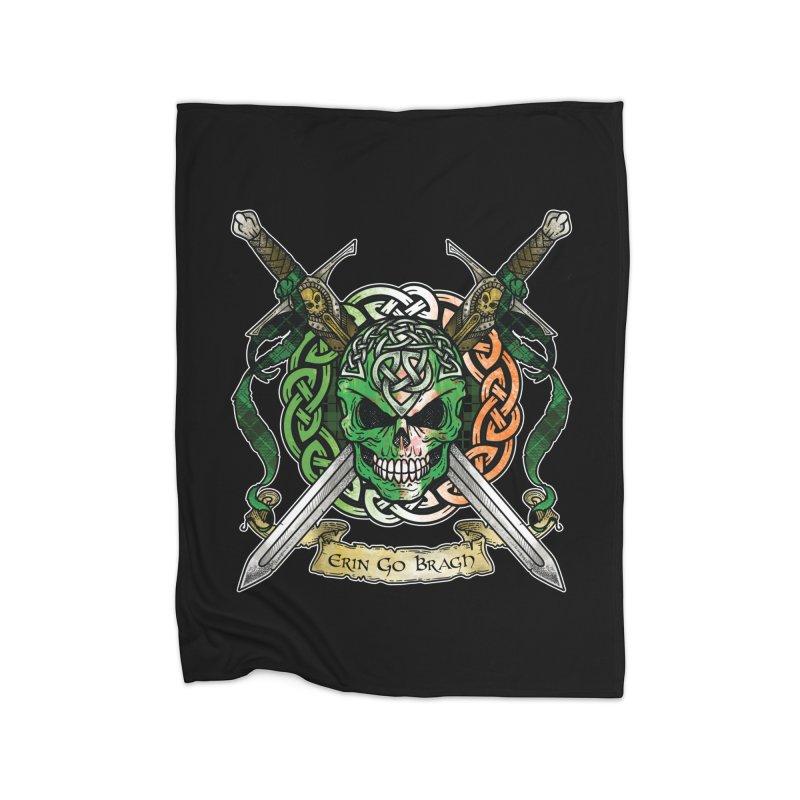 Celtic Warrior: Ireland Home Fleece Blanket Blanket by Celtic Hammer Club