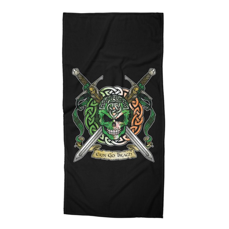 Celtic Warrior: Ireland Accessories Beach Towel by Celtic Hammer Club