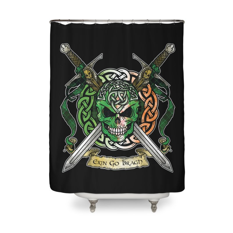 Celtic Warrior: Ireland Home Shower Curtain by Celtic Hammer Club