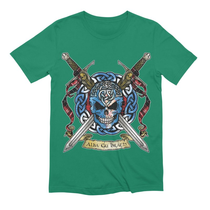 Celtic Warrior: Scotland Men's Extra Soft T-Shirt by Celtic Hammer Club