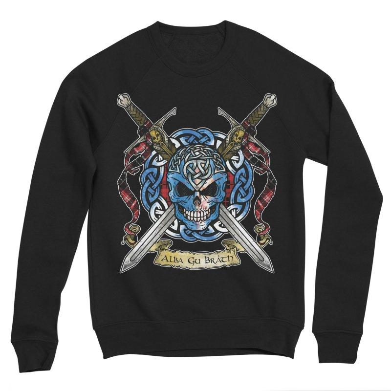 Celtic Warrior: Scotland Men's Sponge Fleece Sweatshirt by Celtic Hammer Club