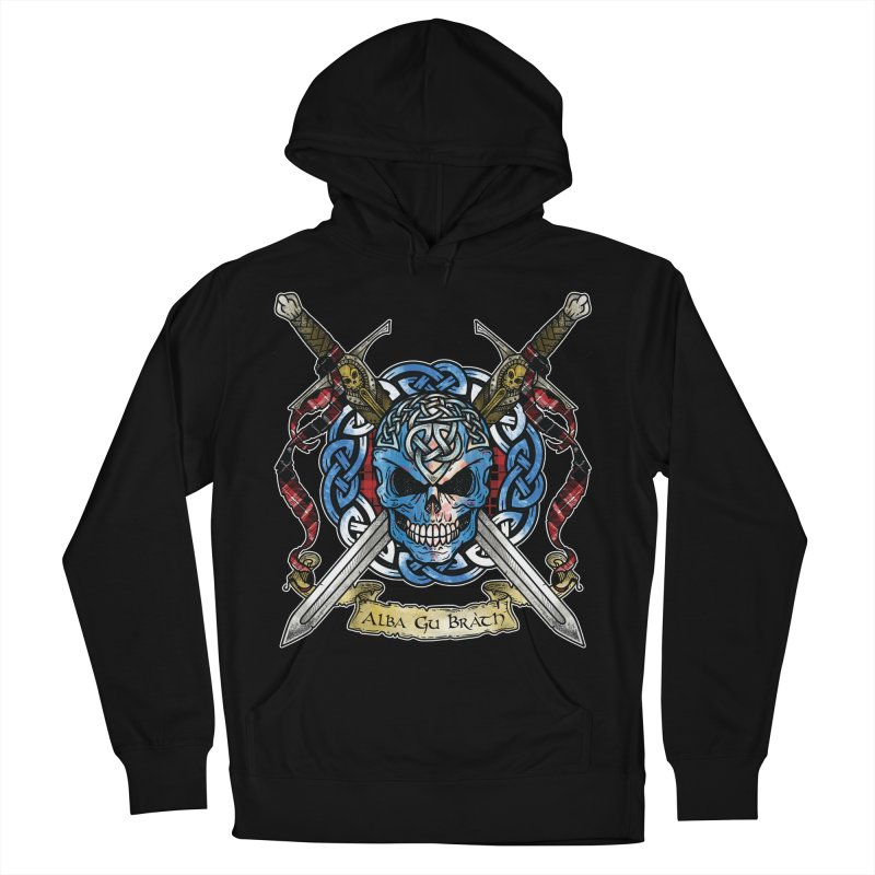 Celtic Warrior: Scotland Men's French Terry Pullover Hoody by Celtic Hammer Club