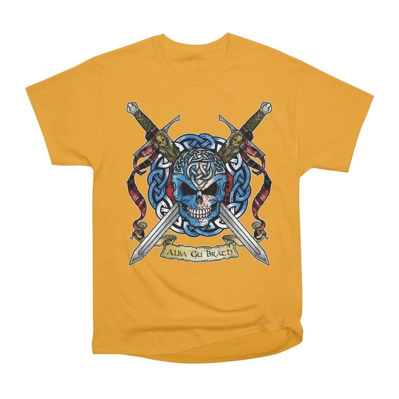 Celtic Warrior: Scotland Women's Heavyweight Unisex T-Shirt by Celtic Hammer Club