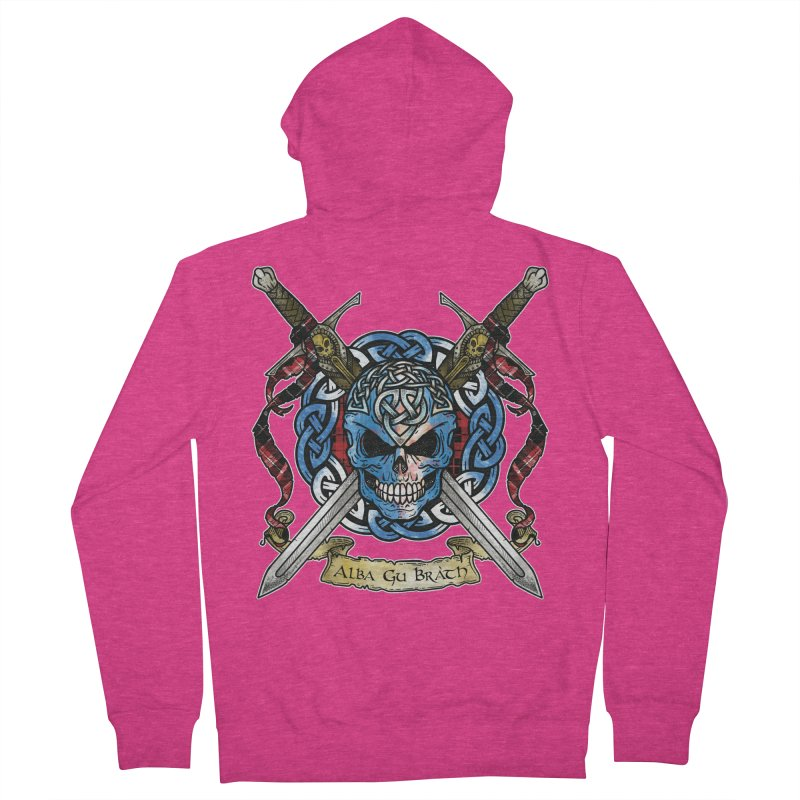 Celtic Warrior: Scotland Women's French Terry Zip-Up Hoody by Celtic Hammer Club