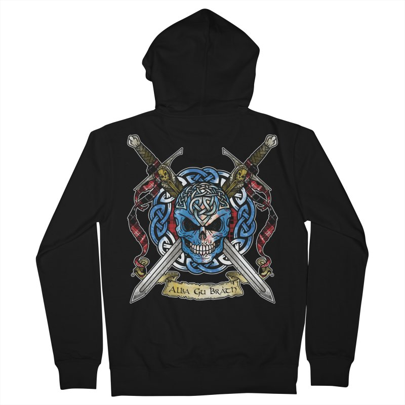 Celtic Warrior: Scotland Men's French Terry Zip-Up Hoody by Celtic Hammer Club