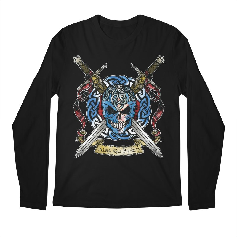 Celtic Warrior: Scotland Men's Regular Longsleeve T-Shirt by Celtic Hammer Club