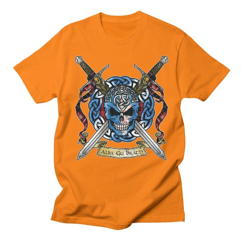 Celtic Warrior: Scotland Men's Regular T-Shirt by Celtic Hammer Club