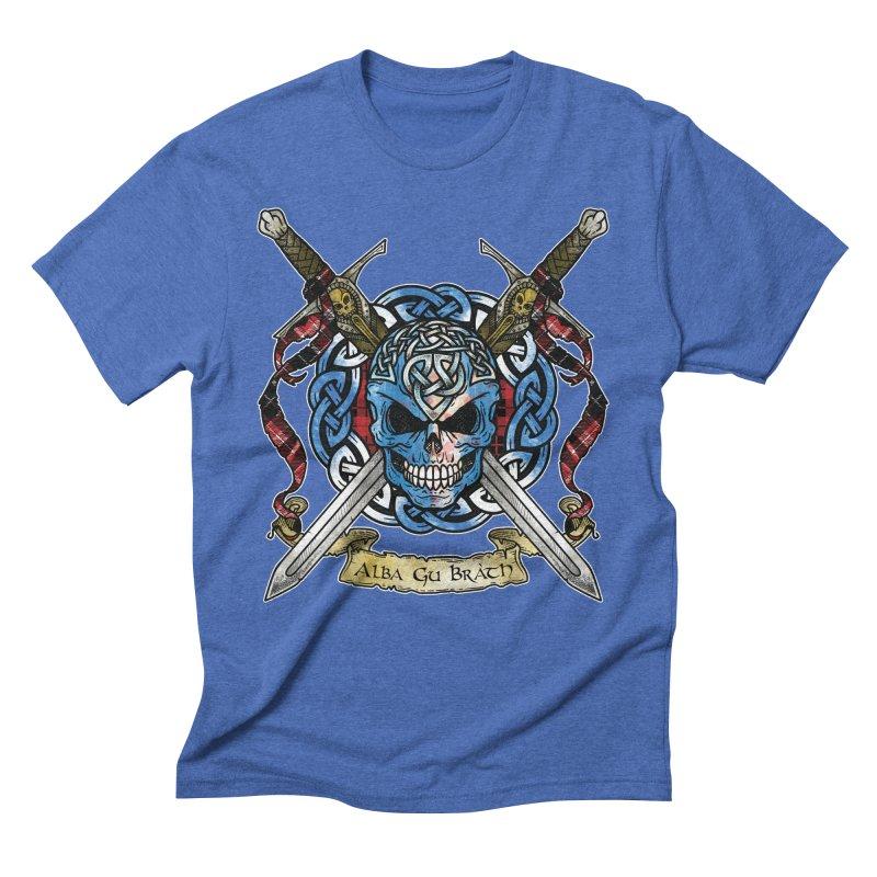 Celtic Warrior: Scotland Men's Triblend T-Shirt by Celtic Hammer Club